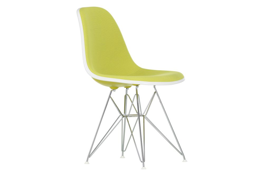 01 Chrome,04 White,04 Glides basic dark for carpet,Hopsak 79 warmgrey/ivory,01 basic dark,Vitra,Dining Chairs,chair,furniture,line,yellow