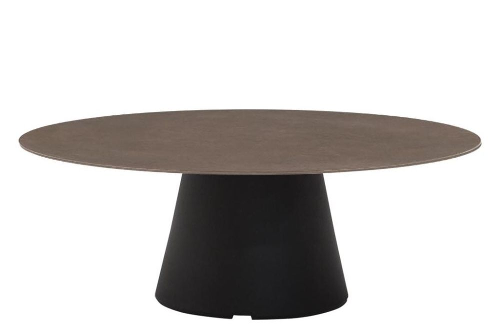 Reverse Occassional Stone Top Round Coffee Table by Andreu World