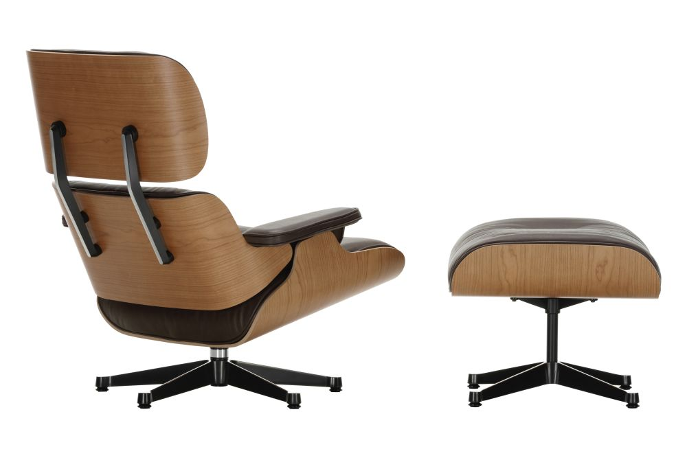 Charles Eames Lounge Stoel.Vitra Eames Lounge Chair Ottoman American Cherry Shell From Vitra