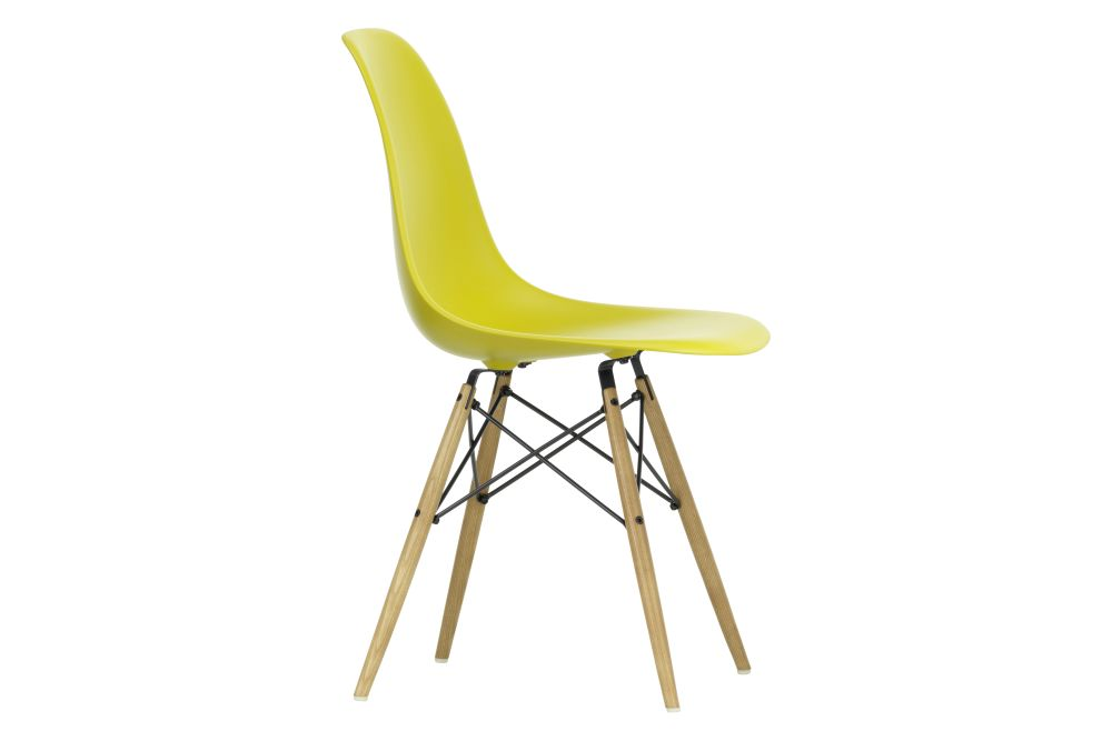 01 Basic dark, 02 Golden Maple, 04 basic dark for carpet,Vitra,Dining Chairs,chair,furniture,plastic,yellow