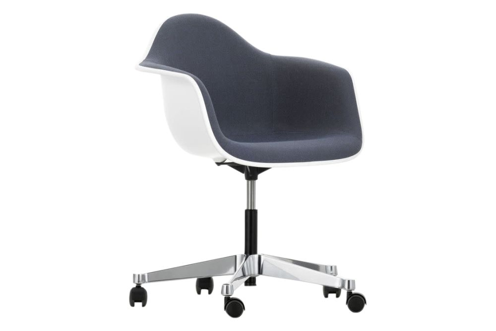 PACC Eames Plastic Armchair With Full Upholstery by Vitra