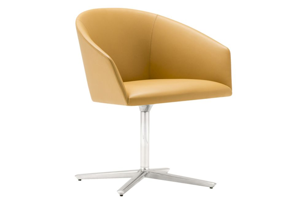 Aluminium Finish White, Andreu World Main Line Flax,Andreu World,Conference Chairs,beige,chair,furniture,line,product