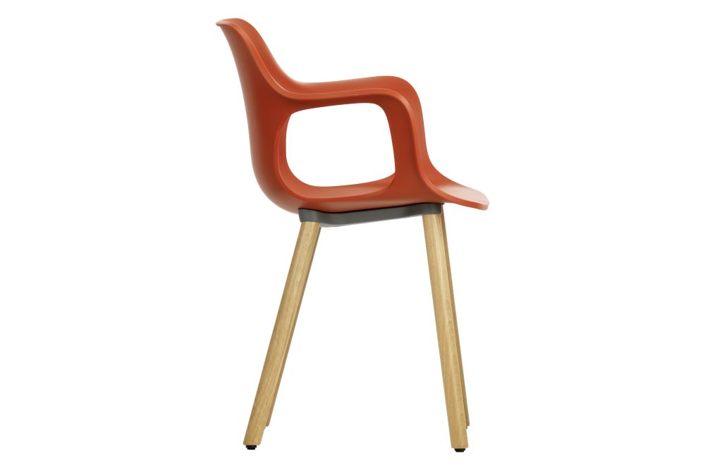 HAL Wood Base Armchair  by Vitra