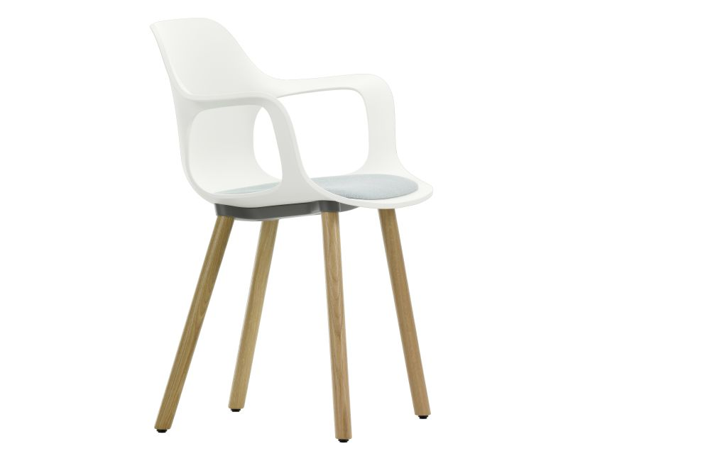 HAL Wood Base Armchair with Seat Pad by Vitra