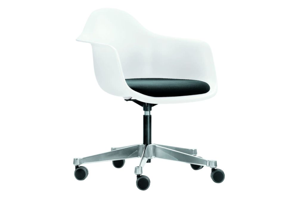 PACC Eames Plastic Armchair - Seat Upholstered by Vitra