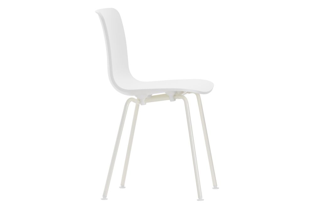 01 basic dark, 04 white, 04 glides for carpet, Base chromed,Vitra,Dining Chairs,chair,furniture,white
