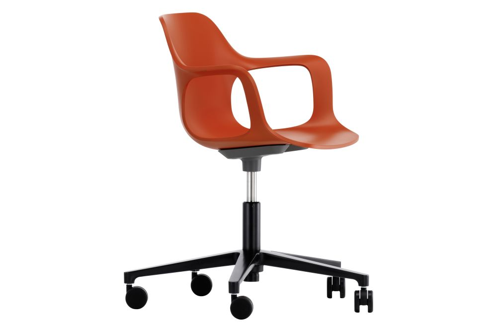 65 orange, 03 castors soft - braked for hard floor,Vitra,Office Chairs,armrest,chair,furniture,line,office chair,orange,plastic,product