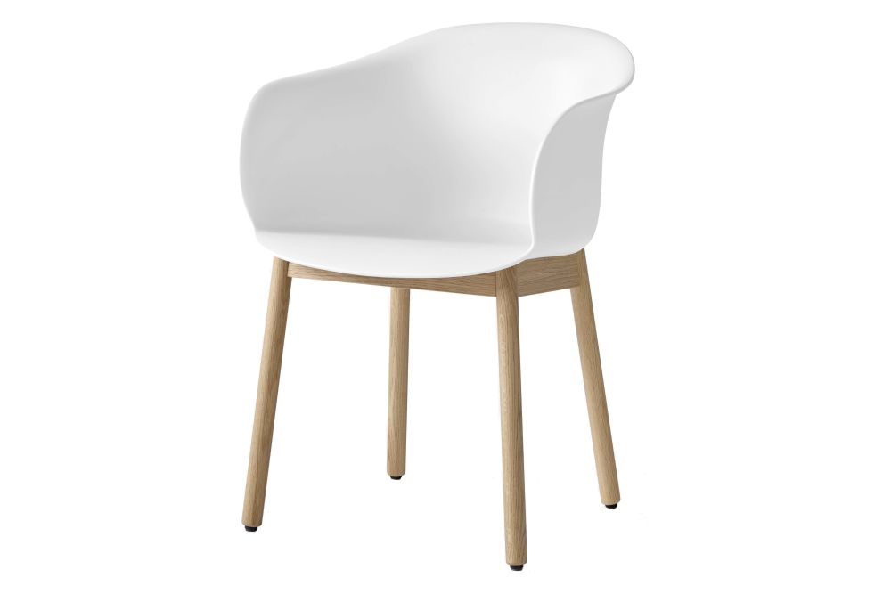 Elefy JH30 Dining Chair with Wood Base - Un-Upholstered by &Tradition