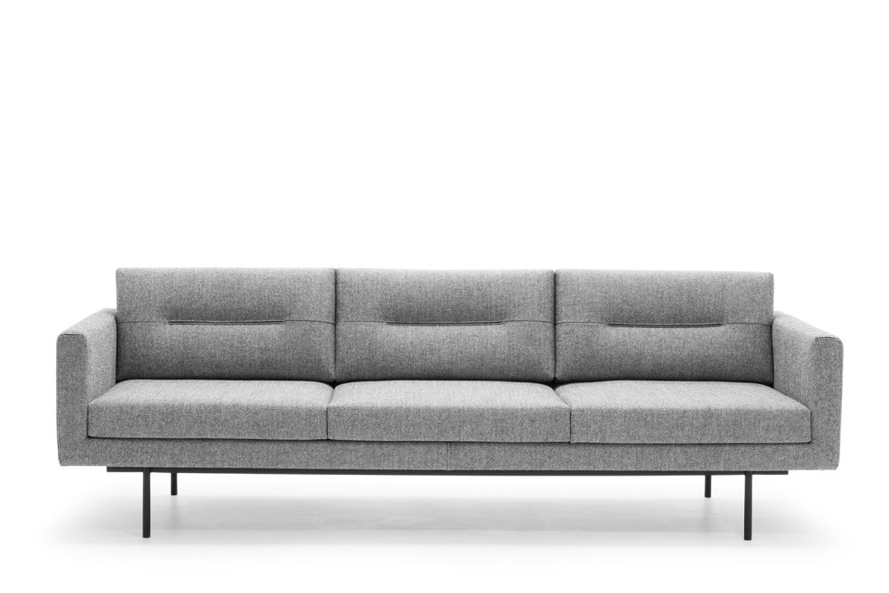 Andreu World Softfibra, Polished Chrome Steel, Inner Seam Tape Finish,Andreu World,Breakout Sofas,beige,comfort,couch,furniture,room,sofa bed,studio couch