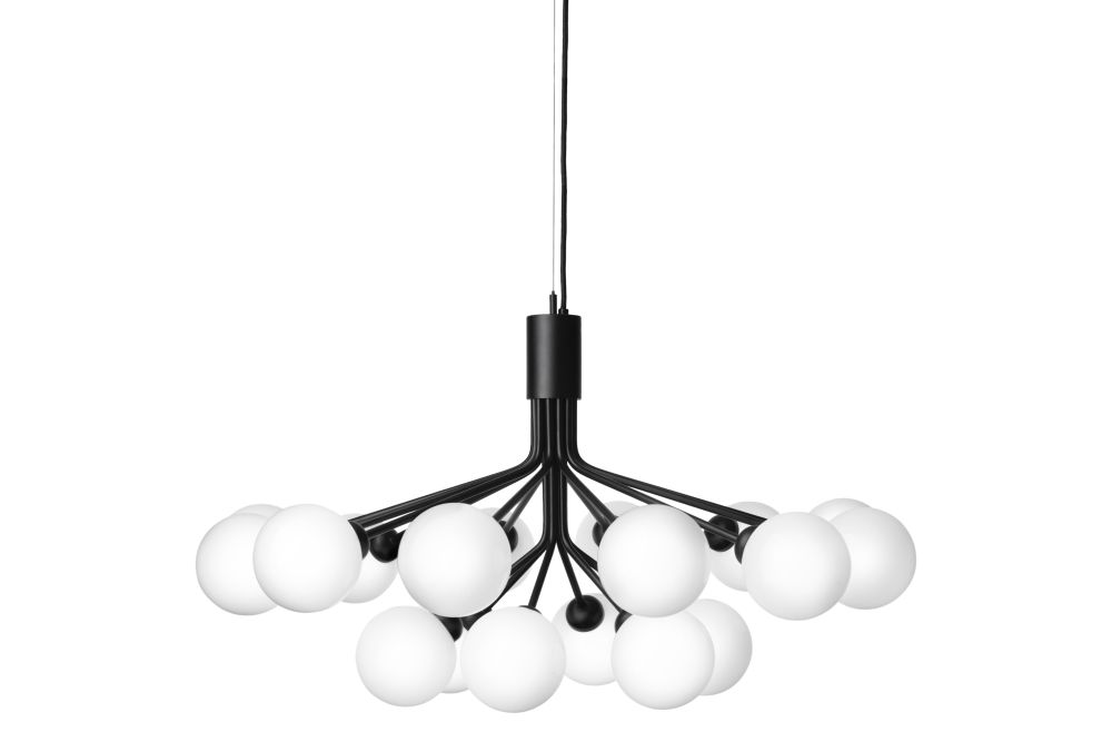 Satin Black,Nuura,Chandeliers,ceiling,ceiling fixture,chandelier,lamp,light,light fixture,lighting,lighting accessory,product