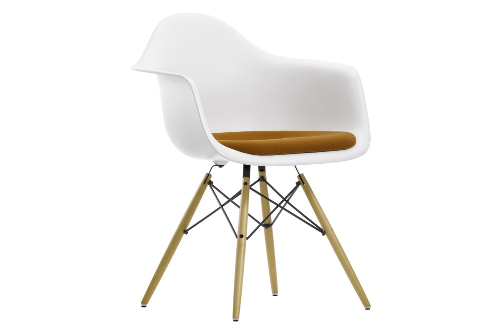 DAW Armchair - Seat Upholstered by Vitra