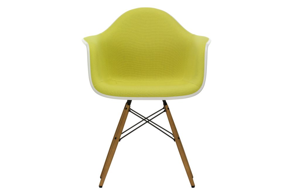 65 Ash honey tone, 04 White, 04 Glides basic dark for carpet, Hopsak 79 warmgrey/ivory, 01 basic dark,Vitra,Armchairs,chair,furniture,plastic,yellow