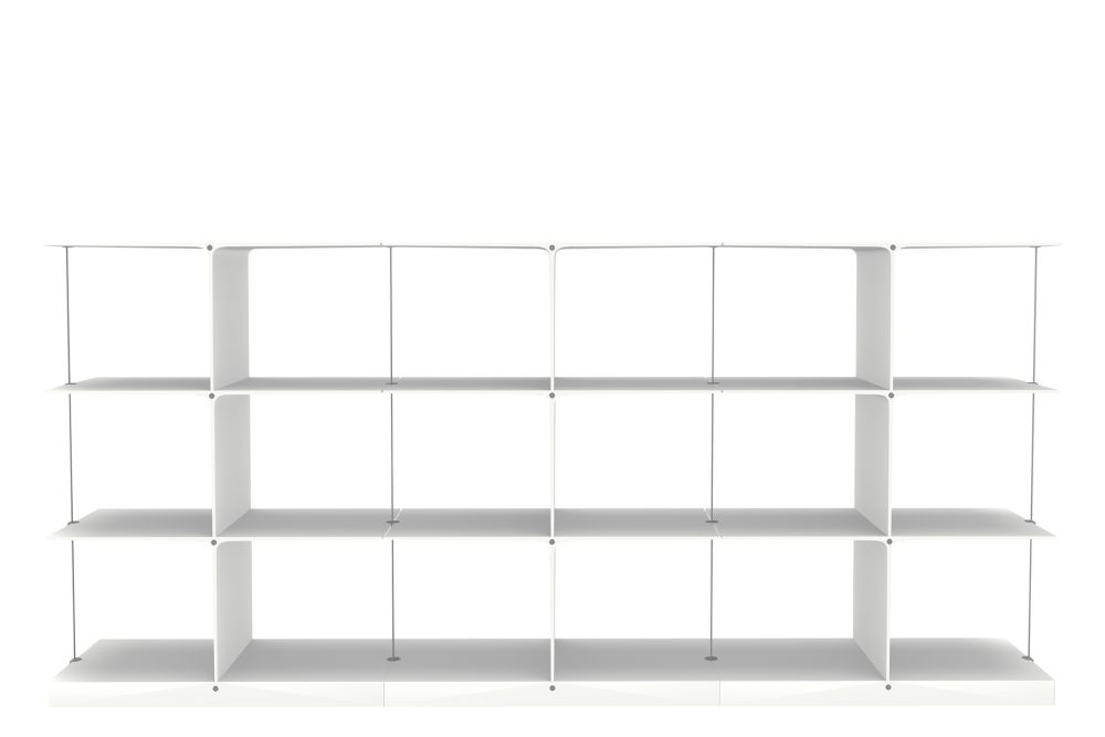 3x3 White Low,Engelbrechts,Bookcases & Shelves,bookcase,furniture,shelf,shelving