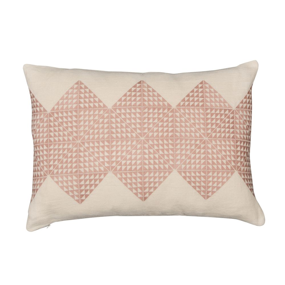 Geotile Cushion Ash Grey,Niki Jones,Cushions,beige,brown,cushion,design,furniture,linens,pattern,pillow,pink,rectangle,textile,throw pillow