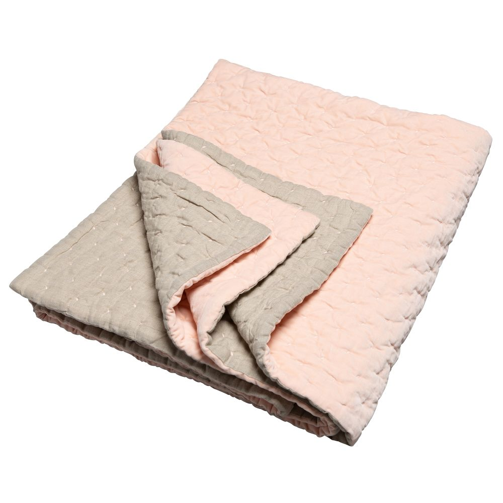 Oyster & Natural Linen,Niki Jones,Blankets & Throws,beige,linens,textile