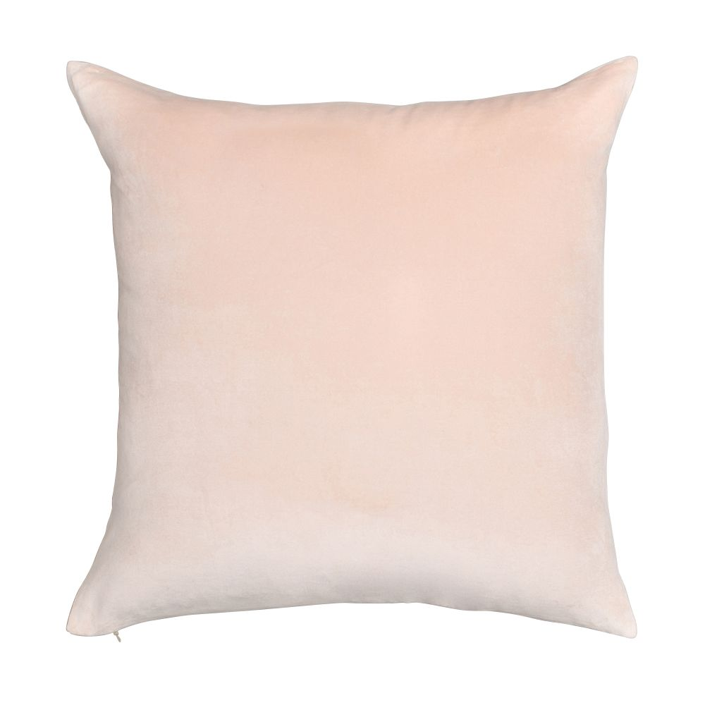 Velvet Linen Cushion,Niki Jones,Cushions,beige,brown,cushion,furniture,linens,pillow,pink,textile,throw pillow