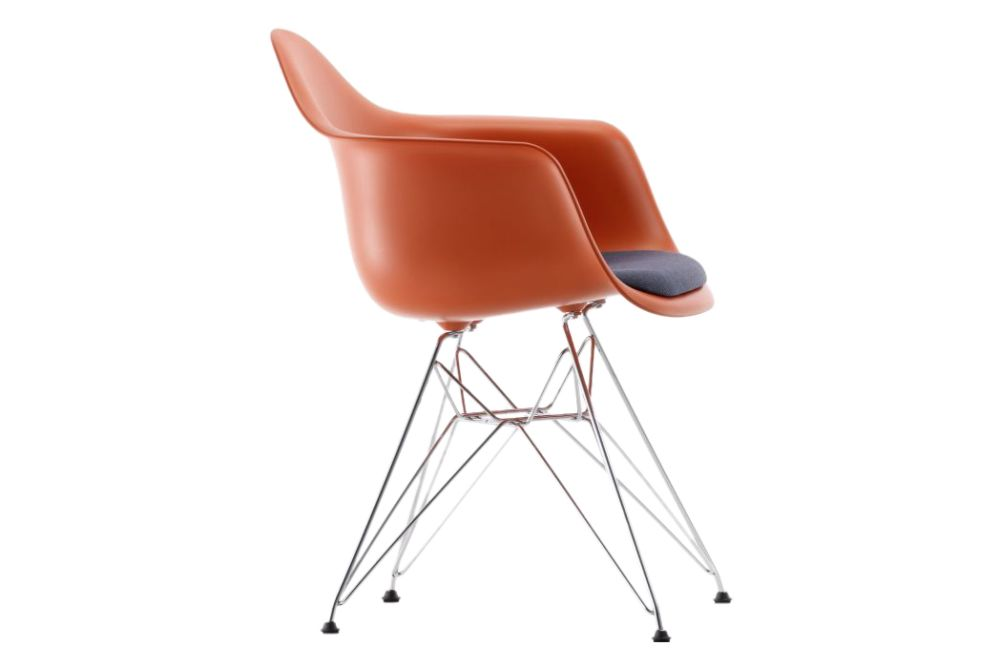 DAR Armchair - Seat Upholstered by Vitra
