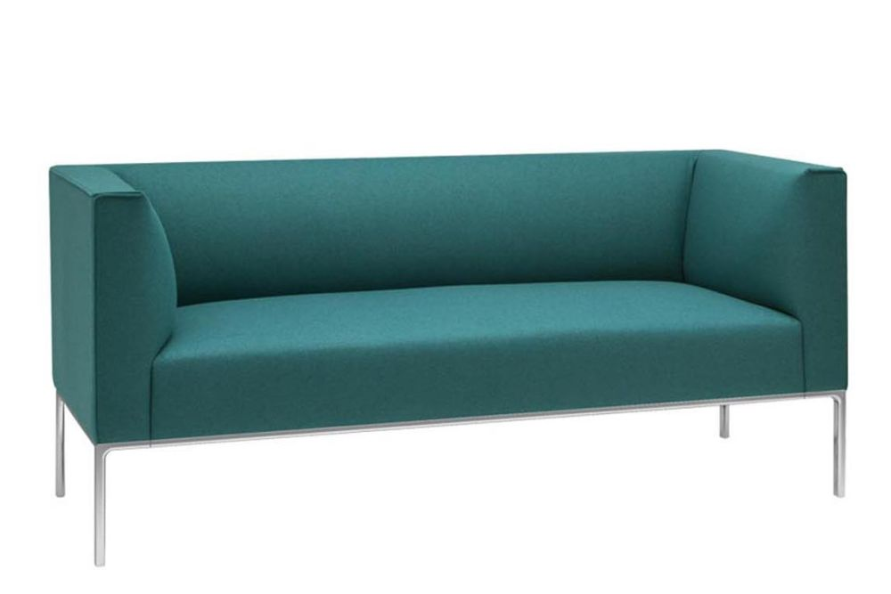 Aluminium White, Andreu World Main Line Flax, Plastic for Hard Floors,Andreu World,Breakout Sofas,aqua,blue,couch,furniture,green,studio couch,teal,turquoise