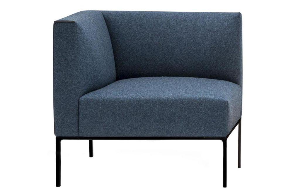 Left, Aluminium White, Andreu World Main Line Flax, Plastic for Hard Floors,Andreu World,Breakout Sofas,blue,chair,club chair,furniture
