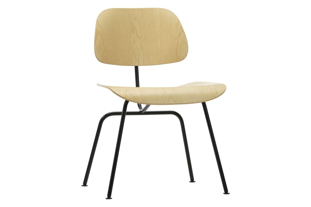 black ash, 04 glides for carpet,Vitra,Dining Chairs,beige,chair,furniture,plywood,table,wood