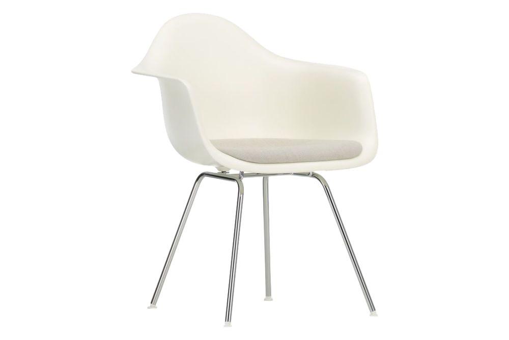 Hopsak 66 nero, 01 basic dark, 01 chrome, 05 felt basic dark for hard floor,Vitra,Armchairs,beige,chair,furniture,material property,plastic,white