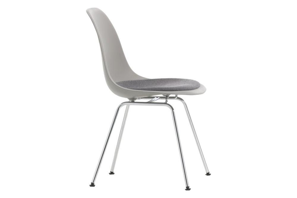 01 basic dark, 01 chrome, 04 basic dark for carpet, Hopsak 66 nero,Vitra,Dining Chairs,chair,furniture