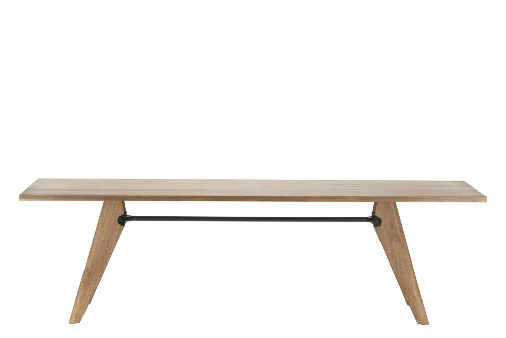 solid oak, natural - oiled, 74 x 90 x 240 cm,Vitra,Dining Tables,coffee table,desk,furniture,outdoor table,plywood,rectangle,sofa tables,table,wood