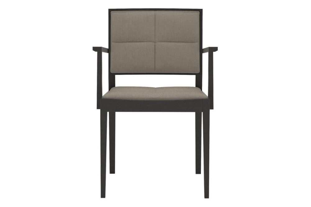 Manila Small Chair with Arms and Upholstered Seat and Backrest by Andreu World