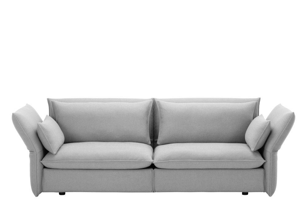 Mariposa 3 Seater Sofa Dumet 06 Pebble Melange By Vitra