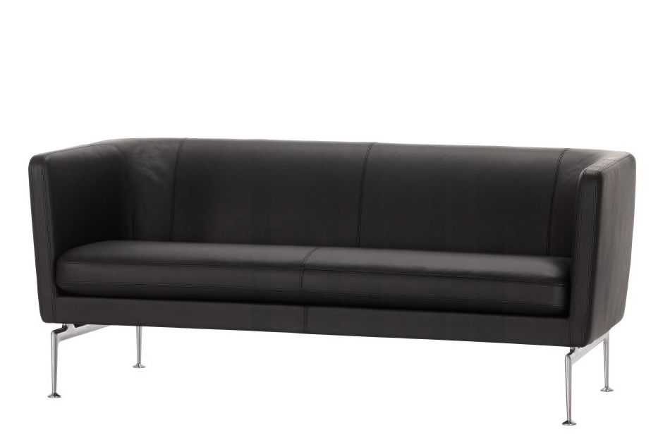 black,couch,furniture,leather