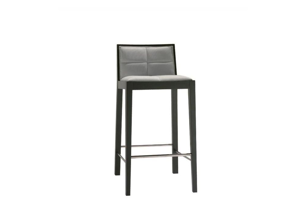 Manila Counter Stool with Upholstered Seat and Backrest by Andreu World
