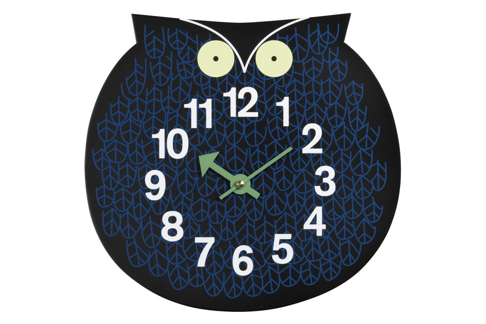 Vitra,Clocks,aqua,blue,clock,font,furniture,home accessories,owl,wall clock
