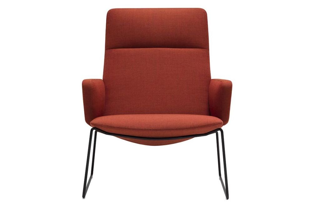Polished Chrome Steel, Andreu World Main Line Flax,Andreu World,Breakout Lounge & Armchairs,chair,furniture,orange,red