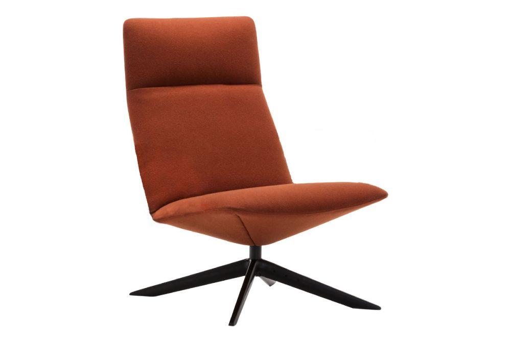 Capri Swivel Wood Base Lounge Chair by Andreu World