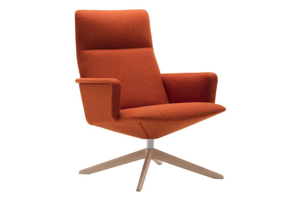 Wood finish Beech, Andreu World Main Line Flax,Andreu World,Breakout Lounge & Armchairs,armrest,chair,furniture,line,office chair,orange,tan,wood