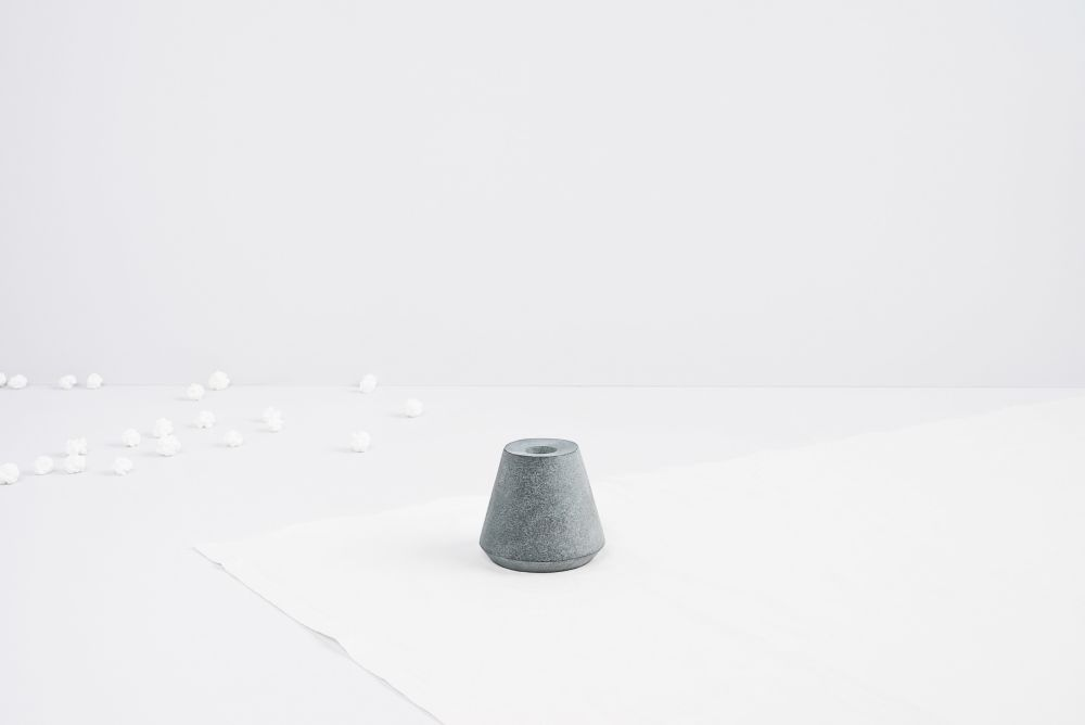 Cone of Stone Candleholder by Tiipoi