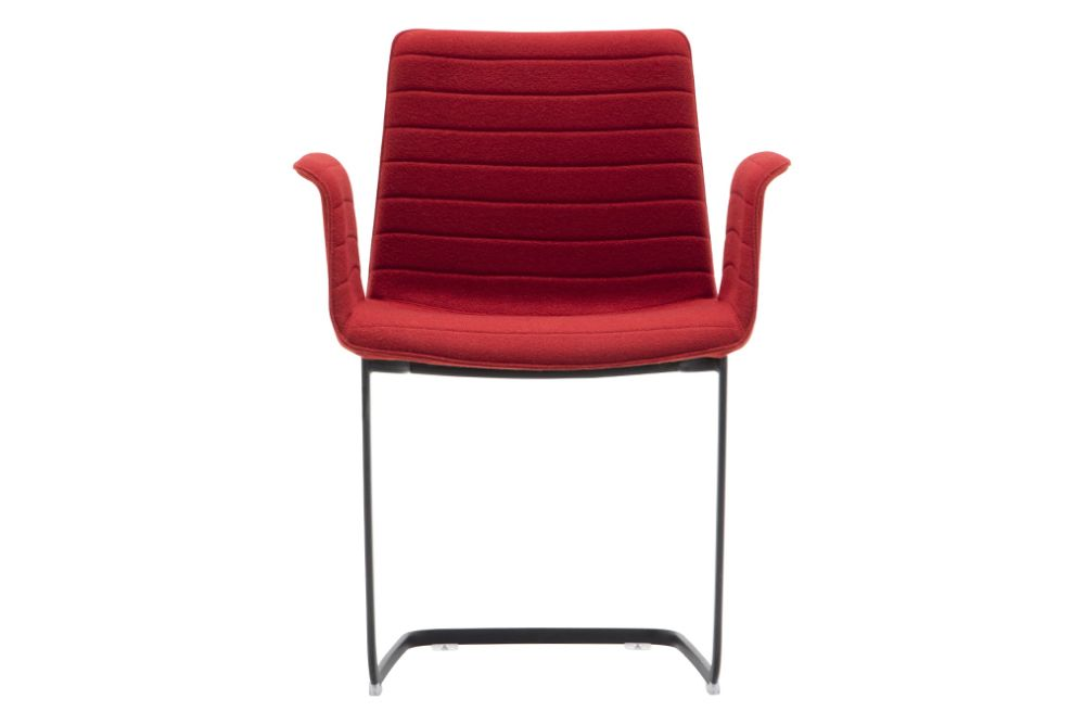 Andreu World Jacquard One, Polished Chrome Steel,Andreu World,Breakout Lounge & Armchairs,chair,furniture,plastic,red