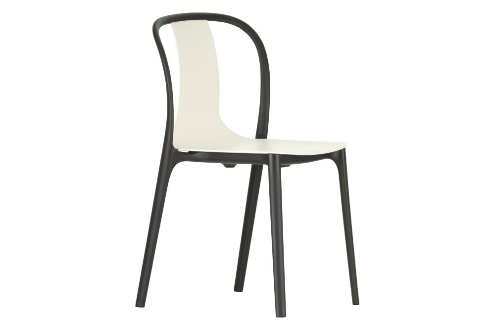 Belleville Dining Chair with Plastic Shell by Vitra