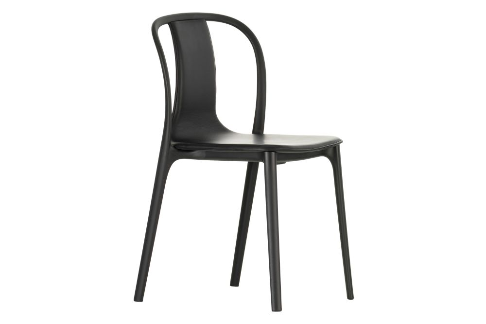 Belleville Dining Chair - Leather Upholstered by Vitra