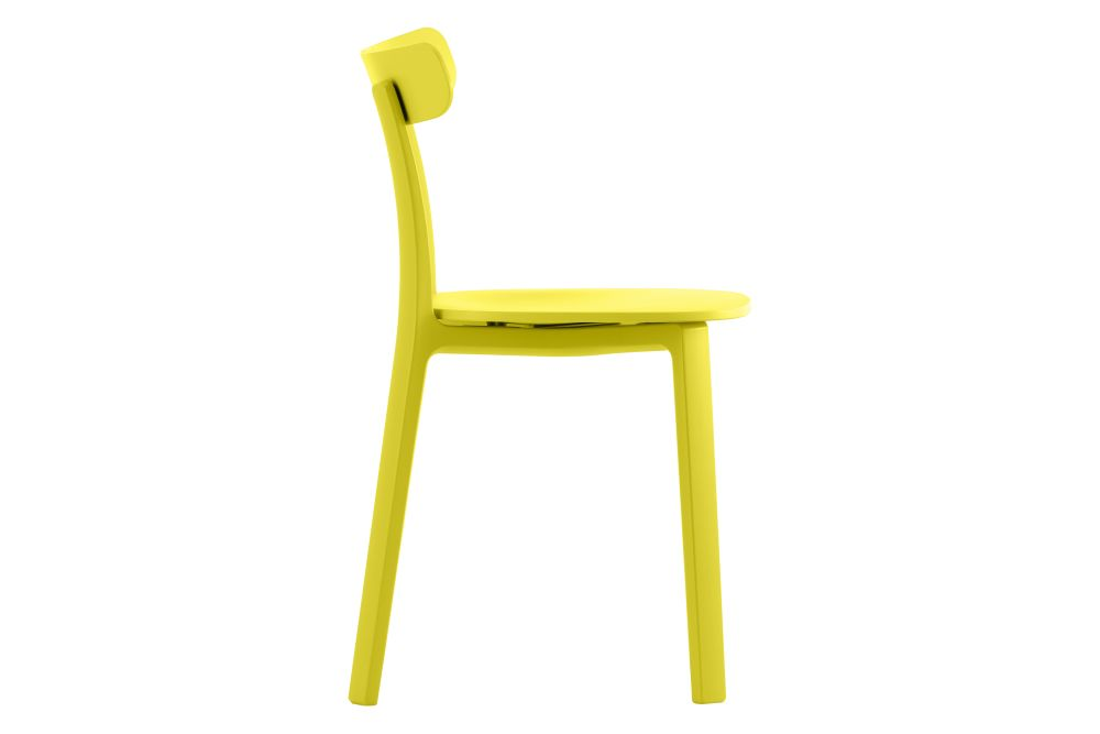 01 white - two-tone, 04 glides for carpet,Vitra,Dining Chairs,chair,furniture,yellow