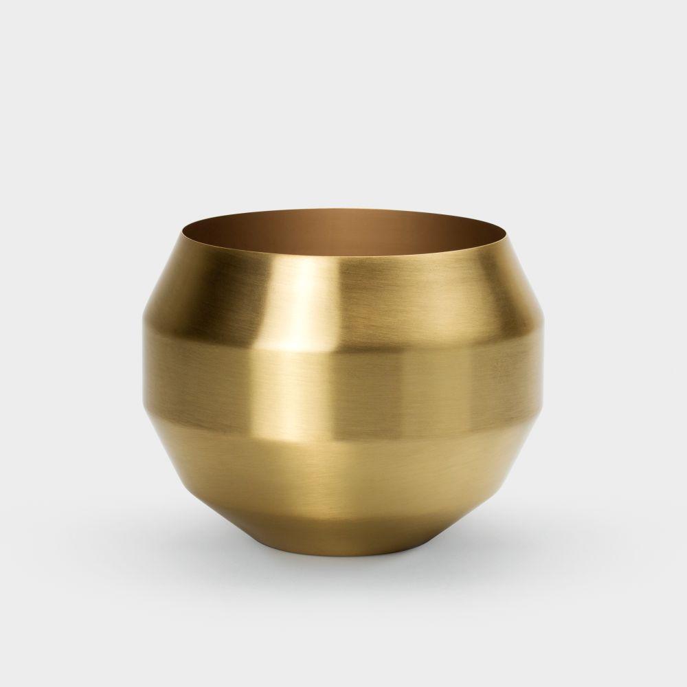 Pitch Planter - White,Vitamin,Plant Pots,brass,copper,metal
