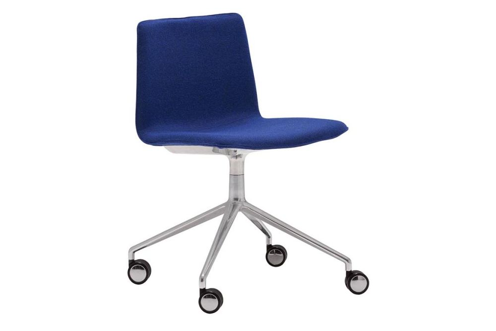 Thermo-polymer 6000, Polished Aluminium, Andreu World Jacquard One,Andreu World,Conference Chairs,chair,cobalt blue,electric blue,furniture,line,material property,office chair,product