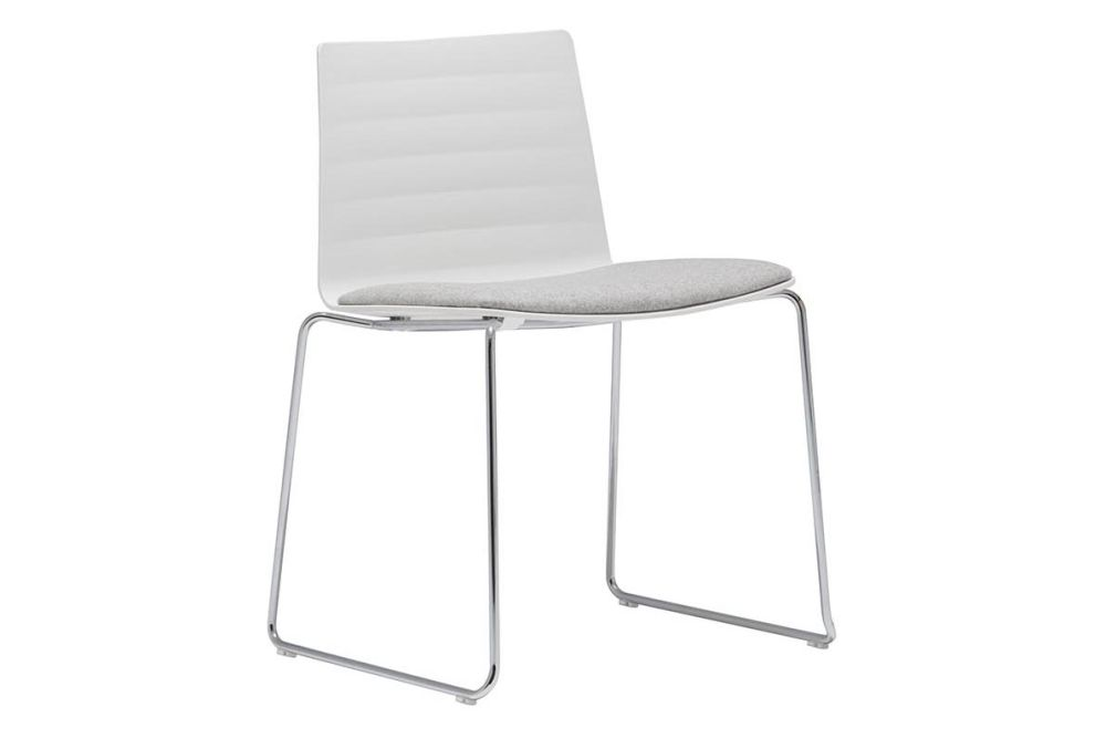 Flex Sled Base Chair with Upholstered Seat Pad Set of 2 by Andreu World