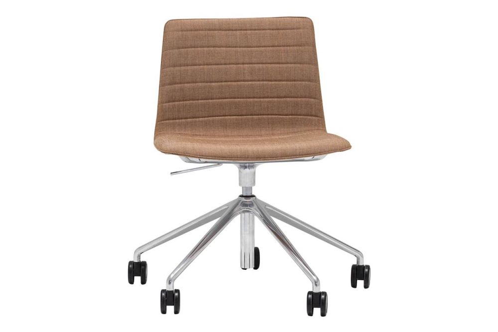 Andreu World Jacquard One, Polished Aluminium,Andreu World,Conference Chairs,beige,brown,chair,furniture,office chair,tan,wood