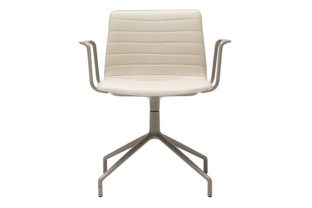 Flex 4-Star Swivel Base Chair with Arms and Fully Upholstered Shell by Andreu World