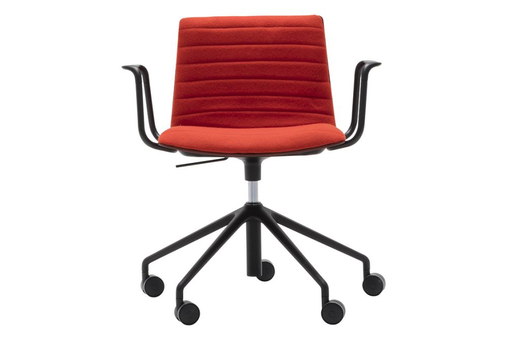 Andreu World Jacquard One, Aluminium finish 6000,Andreu World,Conference Chairs,armrest,chair,furniture,line,material property,office chair,orange