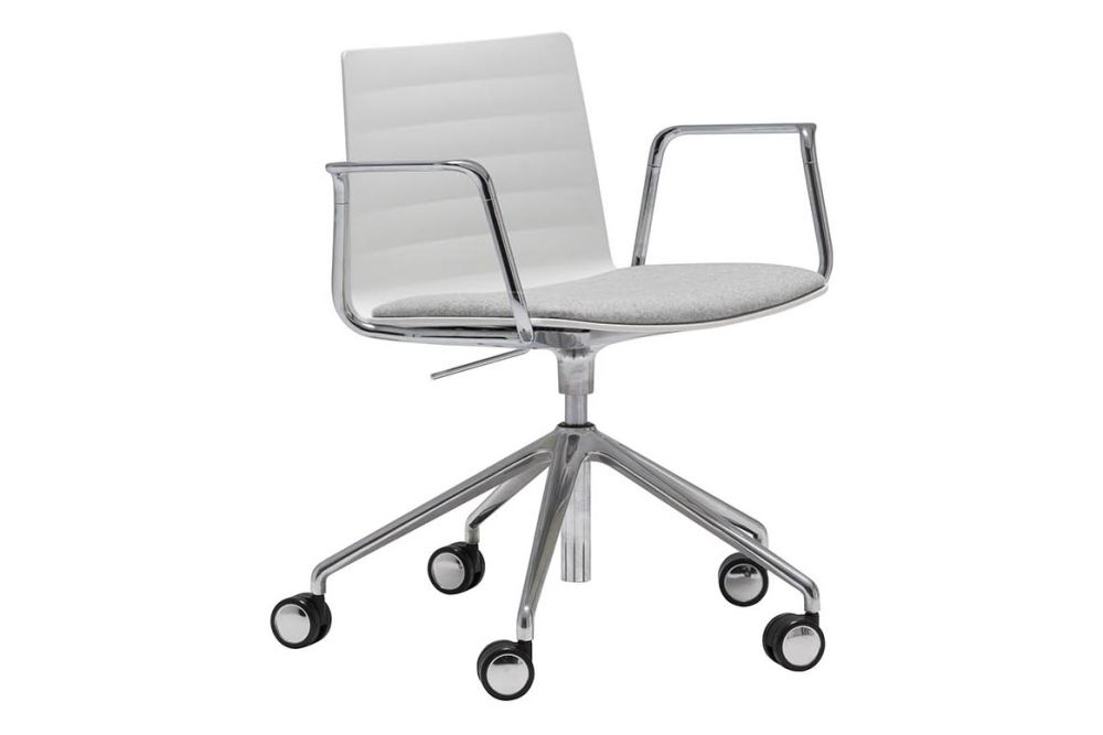 Thermo-polymer 6000, Polished Aluminium, Andreu World Jacquard One,Andreu World,Conference Chairs,chair,furniture,line,material property,office chair,product