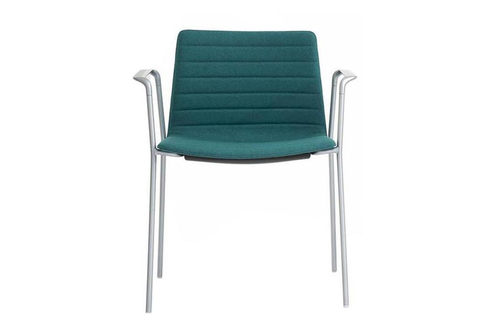 Andreu World Jacquard One, Polished Chrome Steel,Andreu World,Conference Chairs,armrest,azure,chair,furniture,turquoise