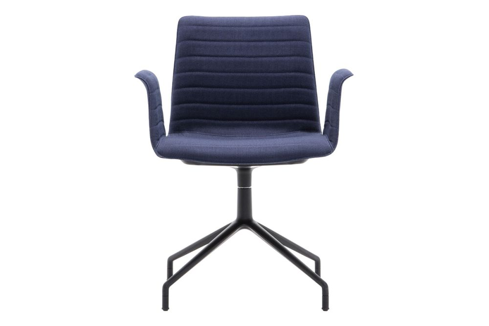 Andreu World Jacquard One, Polished Aluminium,Andreu World,Breakout Lounge & Armchairs,armrest,chair,cobalt blue,furniture,office chair