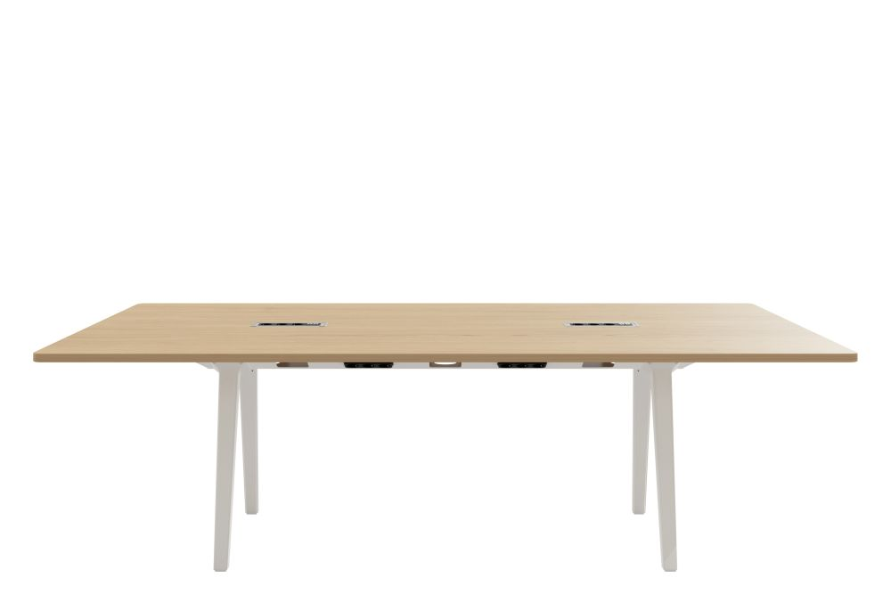 Joyn Conference Table, With Cutouts by Vitra